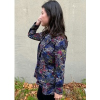 Collared Kaleidoscope Jacket with Matching High/Low Top