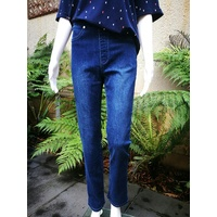 Vassalli Blue Denim Pull On Jeans