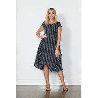 Holmes & Fallon Parachute Black/White Dress