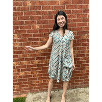 Linen Dress By Dianne Frank