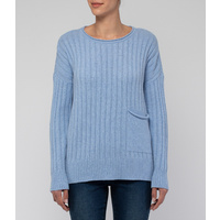 1 Pocket Ribbed Pullover by Jump