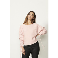 Drawstring Sleeves Jumper by Caju
