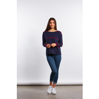 Fine Stripe Detail Pullover by Fields